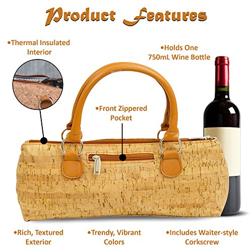 Clutch Gold Cork Primeware Bag Lunch Quilted Wine Purse Bottle 1nwwqv6Rt