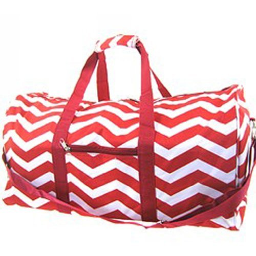 Chevron Zig Print Canvas Duffle product image