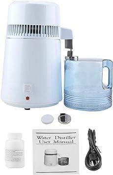 Purificador de agua para hacer agua limpia, destilador de agua 4L Máquina de destilación eléctrica de agua pura para encimera doméstica(ENCHUFE DE ESTADOS UNIDOS ...