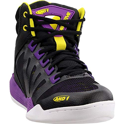 AND1 Womens Overdrive Basketball Casual Shoes, Black, 10