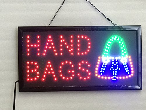 UPSUN Neon Sign Open,LED Business Open Sign Advertisement Board Electric Display Sign, Two Modes Flashing & Steady Light, for Business, Walls, Window, Shop, bar, Hotel(Hand Bag)