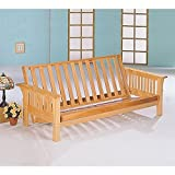Coaster Home Furnishings 4838 Casual Futon Frame, Natural