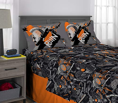 (Activision Call of Duty Black Ops Kids Bedding Soft Microfiber Sheet Set 4 Piece Full Size Grey)