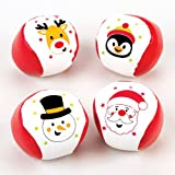 Baker Ross Mini-Softbälle mit Weihnachtsmotiven – Zum Spielen und als Geschenk für Kinder zu Weihnachten (4 Stück)