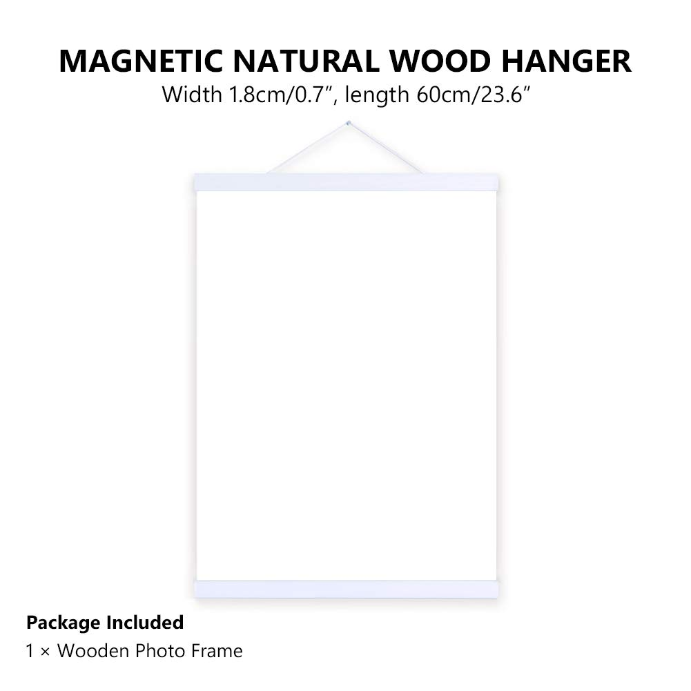WITUSE Magnetic Poster Hangers Magnetic Poster Frame Poster Hangers Wooden Canvas Frame Magnetic Canvas Frame deowl Poster Hanger by WITUSE (Image #2)