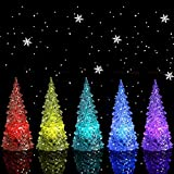HKBAYI Beautiful Large Acrylic Icy Crystal Color Changing LED Lamp Light For Decoration Christmas Tree XMAS Gift (Body transparent)