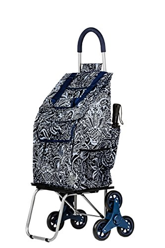 dbest products Stair Climber Bigger Trolley Dolly Shopping Cart, Victorian