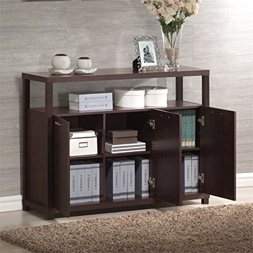 ACME 08278 Hill Cabinet with Three Doors, Espresso ()