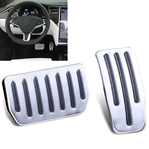 Foot Pedal Pads for Model S and Model X, Auto Aluminum Pedal Covers(A Set of 2) ()