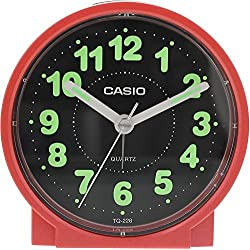 Casio #TQ228-4DF Round Travel Table Top Alarm Clock