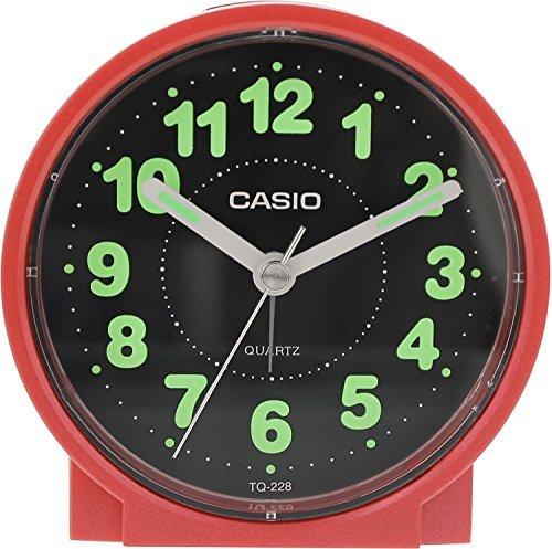 (Casio #TQ228-4DF Round Travel Table Top Alarm Clock)