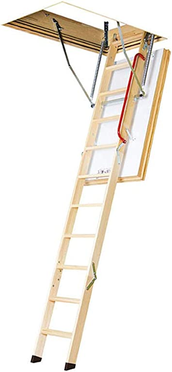 Fakro Lwt 66895 Wooden Thermo Attic Ladder With 12 5 R Value For 30 Inch X 54 Inch Rough Openings Amazon Com