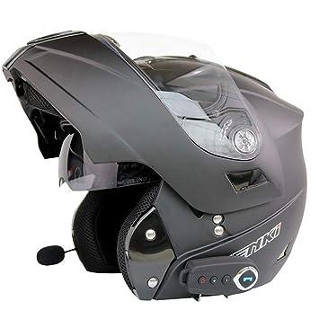 Multifuncional Bluetooth Casco Eléctrico Moto Doble Lente Cara Abierta Casco Completo Casco Cara Al Aire Libre