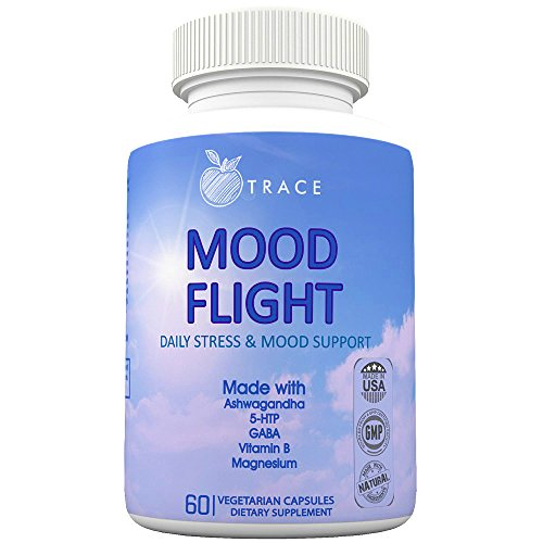 Mood Flight. Soothing Anxiety, Stress, and Mood support supplement. Relief, Calmness, Breathe, and Focus. With Ashwagandha, Chamomile Flower, 5 HTP, Vitamin B's, Magnesium, and more. by Organic Trace