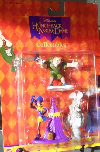 Disney The Hunchback of Notre Dame QUASIMODO,GARGOYLES and CLOPIN ()