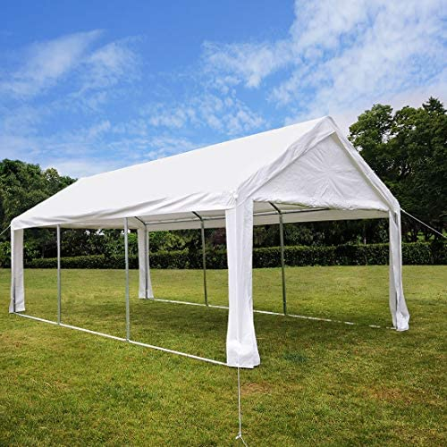 Quictent 13 X20 Carport Heavy Duty Car Canopy Galvanized Car Shelter with Reinforced Ground Bars