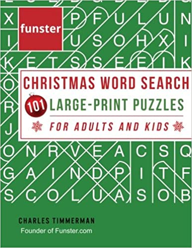 Funster Christmas Word Search 101 Large Print Puzzles For
