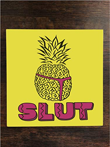 Slut Pineapple One Piece Premium Ceramic Tile Coaster 4.25