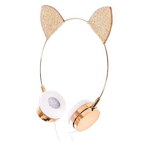 50de1e63576 Amazon.com: Claire's Girl's Rose Gold Cat Ear Headphones: Claire's: Home  Audio & Theater