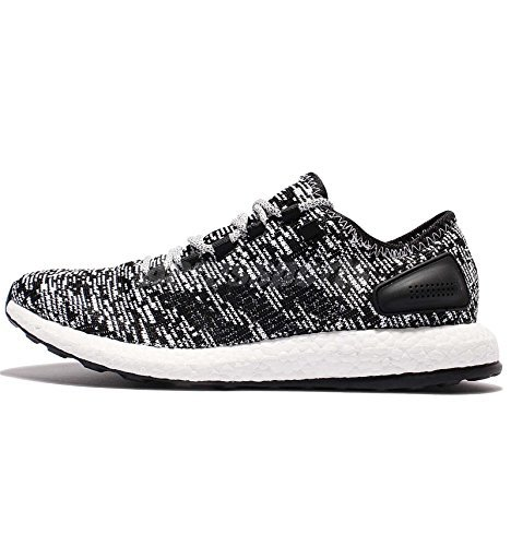 adidas Pureboost Mens Running Trainers Sneakers (US 7, Core Black White BA8890)