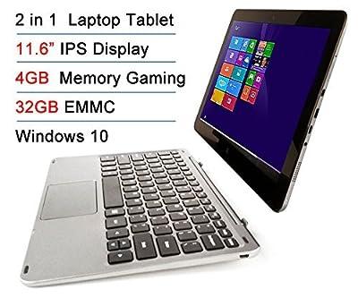 "Intel Atom X5 Z8300 11.6"" IPS 4GB RAM 32GB EMMC Touchscreen 2-in-1 Laptop Tablet PC Windows 10 + Bluetooth keyboard Docking"