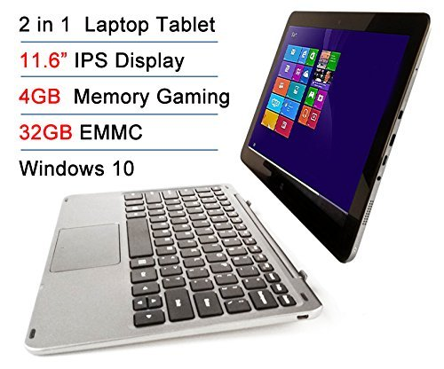 Intel Atom X5 Z8300 11.6' IPS 4GB RAM 32GB EMMC Touchscreen 2-in-1 Laptop Tablet PC Windows 10 + Bluetooth keyboard Docking