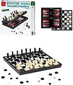Dal Negro 8001097539727 - Juegos de Mesa magnéticos, diseño de Damasco, Multicolor: Amazon.es: Juguetes y juegos