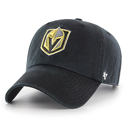 - '47 NHL Las Vegas Golden Knights Clean Up Adjustable Hat, One Size, Black