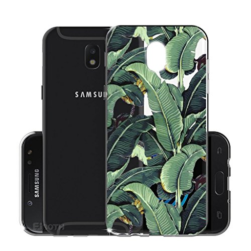 Funda para Samsung Galaxy J5 2017 SM-J530 (Sólo se aplica a la versión europea) , IJIA Transparente Arco Iris Unicornio TPU Silicona Suave Cover Tapa Caso Parachoques Carcasa Cubierta para Samsung Gal WM107