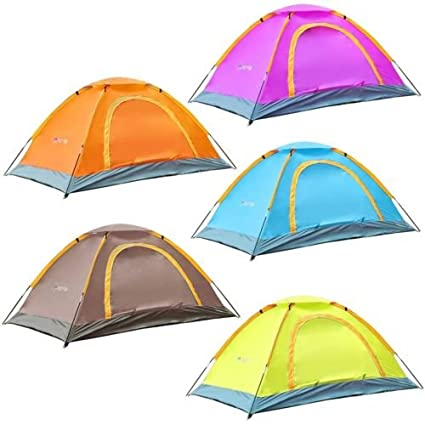 6d0dca0150e5 Amazon.com : Camping Equipment Set Family Cabin 2 Person Tent Sleeping Bag  Hiking Orange L8 : Everything Else