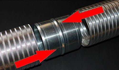 tuyaux en spirale raccords d/'a/ération rond pour tuyaux en aluminium flexibles Manchon de raccord