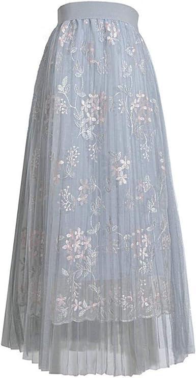 Meilily_Röcke Falda de Tul para Mujer, Falda Plisada, Vestido de ...