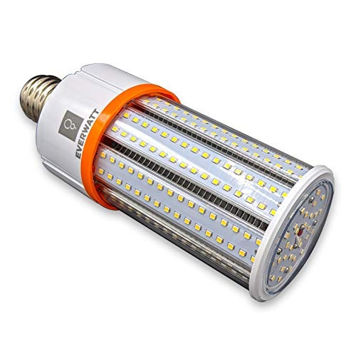 60W LED Corn Light Bulb, 250W Equivalent, Large Mogul E39 Base, 8115 Lumens, 5000K, IP64 Waterproof Outdoor Indoor Area Lighting, Replacement for Metal Halide HID, CFL, HPS Bulb Ed37 Mogul Base