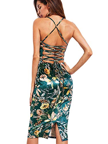 Floral Satin Cocktail Dress - 8