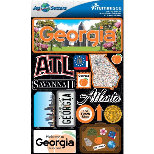 (Reminisce Jet Setters 2 3-Dimensional Sticker, Georgia)