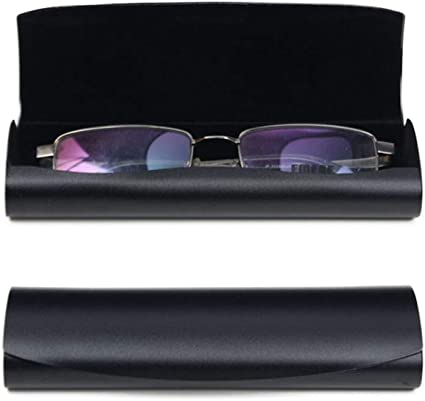 HQWLCIYD Estuche de lápices Estuche para gafas Caja de gafas de aluminio para miopía Caja pequeña para niños Caja de almacenamiento de lentes pequeños, ligeros, frescos y ligeros, negro1: Amazon.es: Oficina y