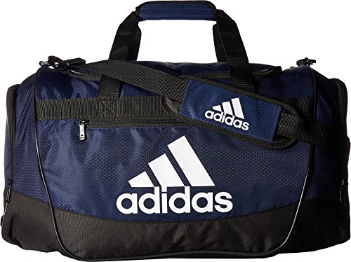 56b5d5f1152 adidas Defender III medium duffel Bag, Collegiate Blue/Black/White, One Size