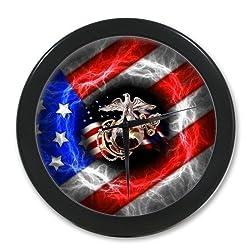 Custom United States Marine Corps - USMC Elegant Wall Clock