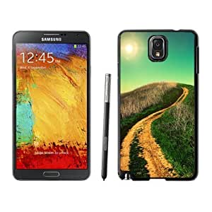NEW Custom Designed For SamSung Galaxy S6 Case Cover Phone With Winding Country Road Sun Shining_Black Phone