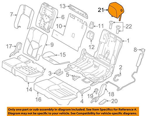 Porsche OEM 11-16 Cayenne Rear Seat-Headrest Head Rest Left 958522812027EG
