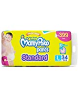 Mamy Poko Pants Standard Pant Style Large Size Diapers (34 Count)