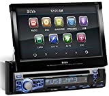 BOSS-Audio-In-Dash-Single-Din-7-inch-Motorized-Touchscreen-DVDCDUSBSDMP4MP3-Player-Receiver-Bluetooth-Streaming-Bluetooth-Hands-free-with-Remote