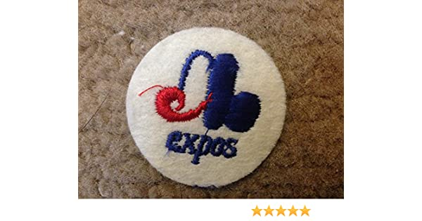 """1970 VINTAGE MONTREAL EXPOS IRON ON PATCH  2/"""" CIRCLES OLD STORE STOCK"""