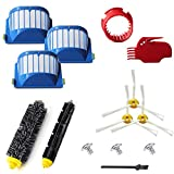 VacuumPal 10pcs Accessories for iRobot Roomba 600 Series 595 614 620 630 645 650 655 660 680 690 Vaccum Cleaner Replenishment Parts Kit
