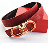 Ferragamo Adjustable Belt Red