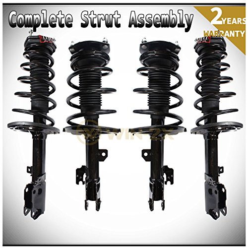 WIN-2X New 4pcs Front+Rear Left & Right Side Quick Complete Suspension Shock Struts & Coil Springs Assembly Kit Fit 04-06 Lexus ES330 04-06 Toyota Camry 05-06.1 Avalon 04-06.6 Solara 0.1% Suspension