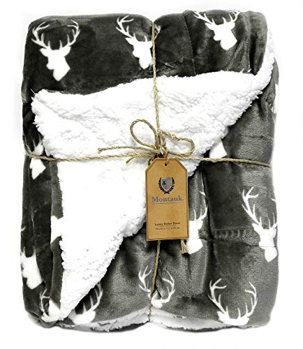 - Sherpa Luxury Soft Velvet Berber Throw Blanket 50