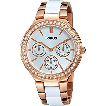 Ladies Lorus Sparkle Rose Gold Plated Bracelet Watch
