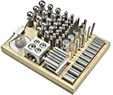 ACE 56pc Dapping Punch Set Jumbo Doming & Steel Swage Block Pro Jewelry Forming Kit (23MB)