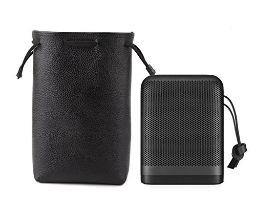 B&O Beoplay P6 本革ケース ポーチ カバー バッグ Bluetooth ポータブル ワイヤレス スピーカー 旅行 持ち運び 収納 BT-B&OP6  ブラック B07D9DKYZ5